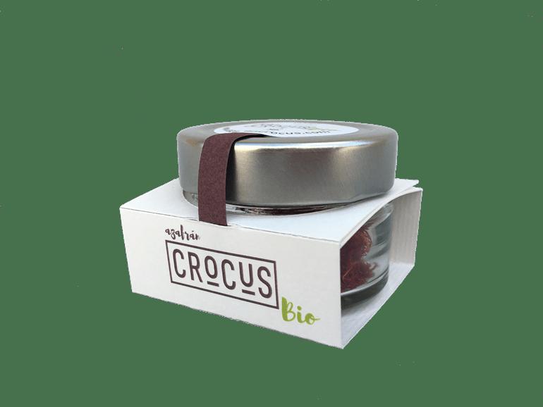 Crocus, safran pur bio en filaments - Pot en verre 2 gr.
